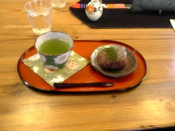 お茶とおはぎ.JPG