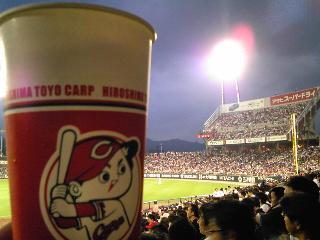カープ坊やのビール.JPG