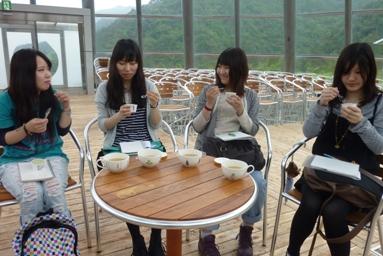 アーティチョークのお茶とアイス.JPG